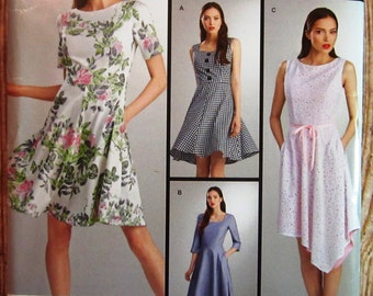 Misses Dress with Bodice and Skirt Variations Sizes 14 16 18 20 22 Simplicity Pattern S0661/8048 UNCUT