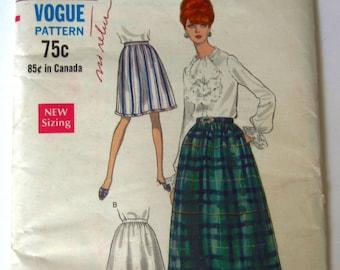 be6050fb0c Misses Full Dirndl Skirt 2 Styles, Evening or Street Lengths Waist Size 24 Vintage  1960s Vogue Pattern 7259 UNCUT
