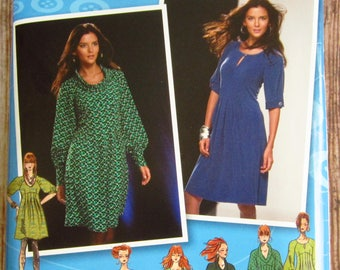 Misses Dress, Bodice and Sleeve Variations Sizes 12 14 16 18 20 Simplicity Pattern 2754 UNCUT