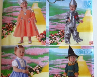 83f5bf13f Toddlers Wizard Of Oz Costumes: Dorothy, Scarecrow, Tin Man and Good Fairy  Witch Sizes 1/2, 1 2 3 4 Simplicity Pattern 4024 UNCUT