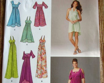 Misses Dress, Length and Sleeve Variations Sizes 10 12 14 16 18 Simplicity Pattern 1659 UNCUT
