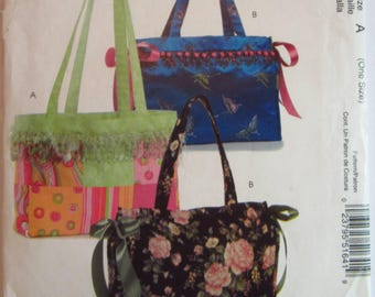Easy Sew Tote Bags in 2 Styles McCalls Stitch 'n Save Pattern M5164 UNCUT