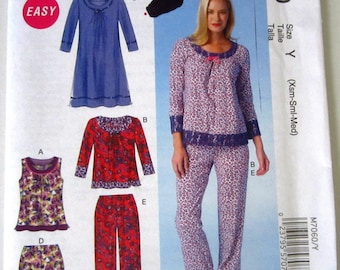 4a3ba5dd30 Easy Sew Misses Pajama Tops