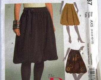 Easy Sew Misses Bubble Skirt 2 Styles Sizes 4 6 8 10 12 McCalls Pattern M5237 UNCUT