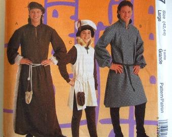 8827 UNCUT Vintage McCalls SEWING Pattern Mens Boys Medieval Costume Theater OOP