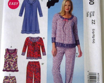 Easy Sew Misses Pajama Tops ffe6db6a1