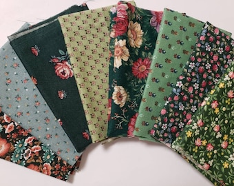10X Mixed Printing Vintage Cotton Linen Fabric Handmade Craft Cloth Sewing DSUK