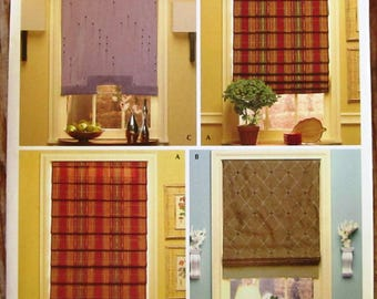 Window Shades 4 Styles Christopher Lowell Simplicity Pattern 4105/0512 UNCUT