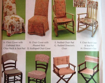 Easy Sew Chair Covers, Home Decorating, Rockers, Directors Chair Pads  Simplicity Pattern 5952