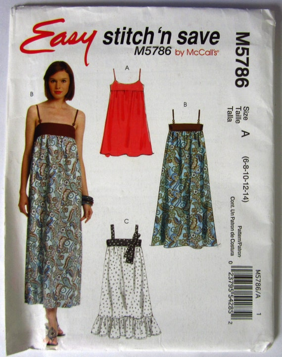 a963e7d3f10e Easy Sew Misses Empire Waist Jumper and Dresses in Two | Etsy