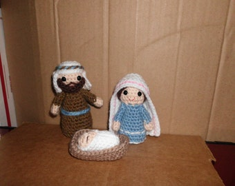 """Handmade Knit Amigurumi Traveling Gnome  3/"""" Tall  by The Knitting Gnome"""
