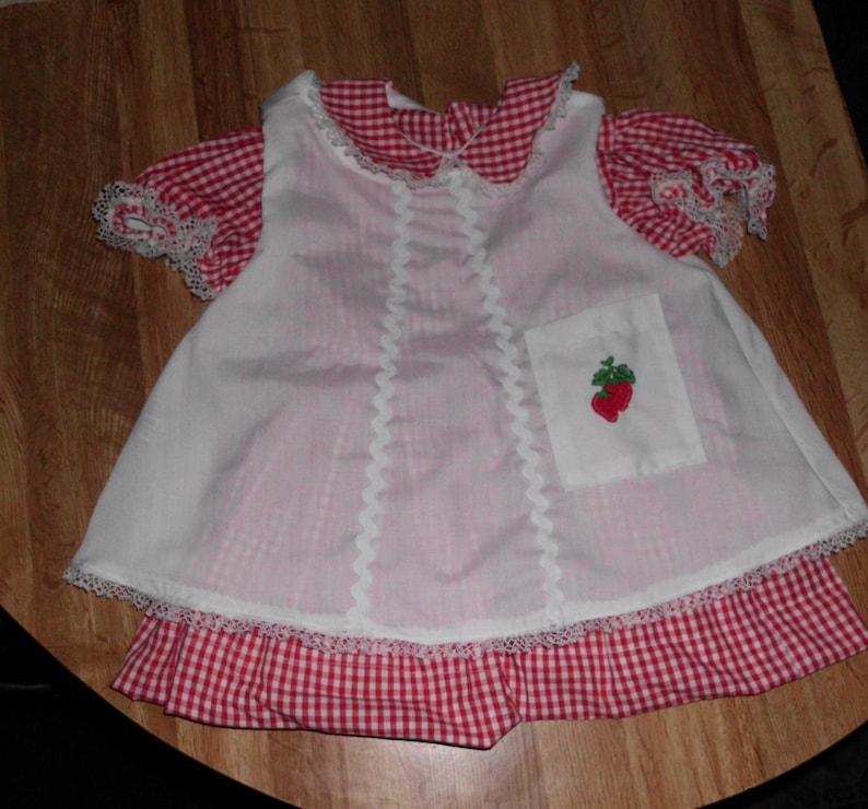 "Handmade Inaugural Doll Dress  and Pinafore Will Fit 36/"" Patti Playpal Dolls"