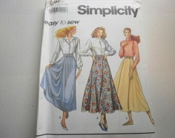 Pattern Vintage Ladies Skirts and Belt Sizes 6 to 12  Simplicity 7980 V