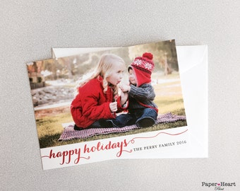 Christmas New Year Holiday Card Couple Family Kids Photo