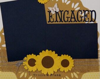 Rustic Wedding Scrapbook Album, Country Wedding Scrapbook Album, Premade Wedding Scrapbook Album, Bridal Shower Gift, Wedding Gift