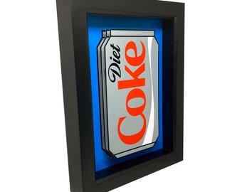 Diet Coke Art Diet Coke Gifts Diet Coke Print 3D Art Diet Coke Decor Funny Kitchen Signs Kitchen Decor Diet Coke Sign Kitchen Wall Decor