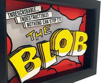 The Blob Horror Art The Blob Print The Blob 1958 Poster The Blob Movie Poster 3D Art Horror Print Horror Poster 1950s Poster 1950s Art Print