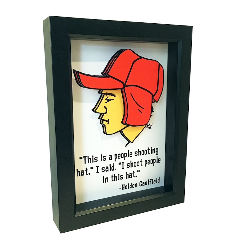 The Catcher in the Rye Quote Holden Caulfield Quote 3D Art JD image 0