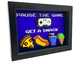 8 Bit Art Video Game Decor 3D Art Video Game Gifts Video Game Art Game Room Decor Game Room Art Gamer Gifts Kitchen Wall Art Kitchen Decor