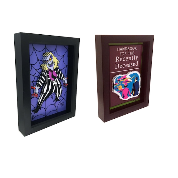 Beetlejuice Cartoon And Handbook For The Recently Deceased Art Etsy