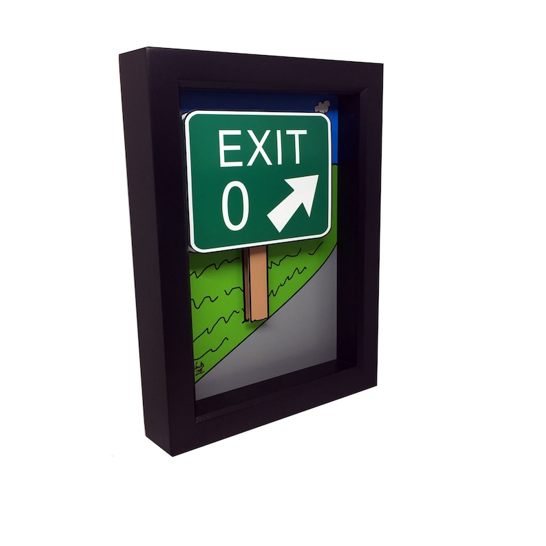 Cape May NJ Wall Art Cape May Art Exit Zero Sign 3D Art Cape image 0