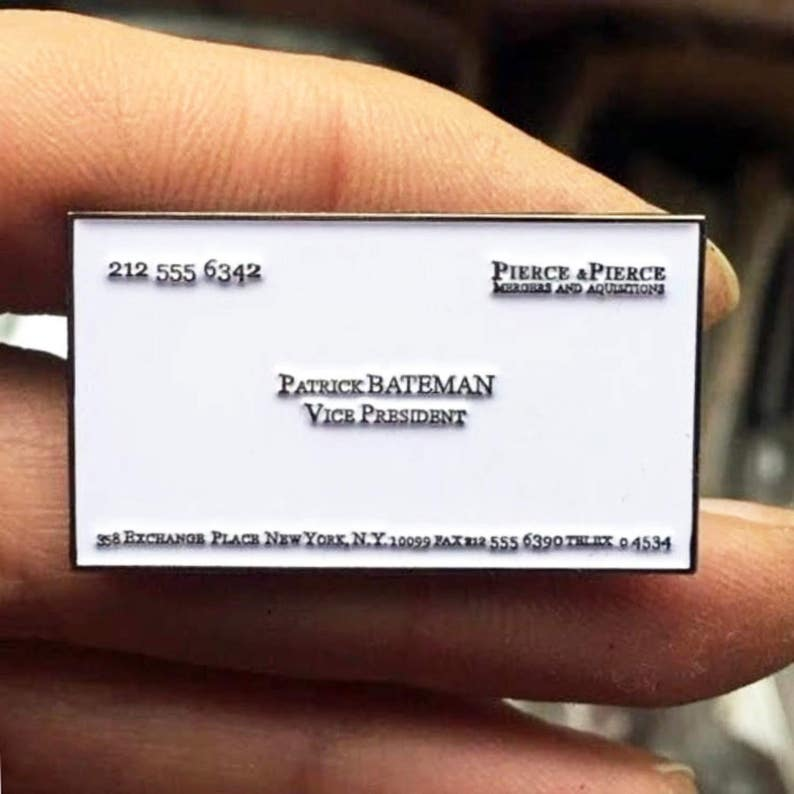 American Psycho Pin Patrick Bateman Carte De