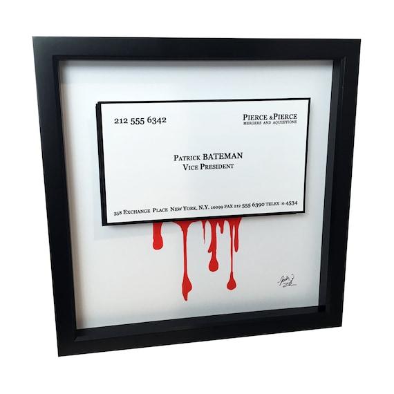 American Psycho Patrick Bateman Business Card 3d Art Pop Art Horror Art