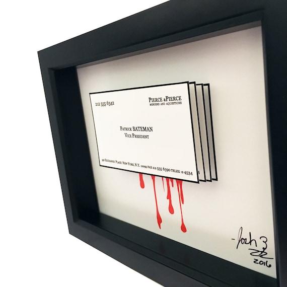 Patrick Bateman Visitenkarte Amerikanischen Psycho Visitenkarte 3d Kunst Amerikanischen Psycho Poster Amerikanischen Psycho Art Horror Dekor Druck