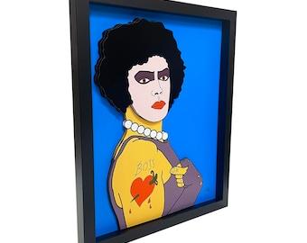 Frank N Furter Rocky Horror Picture Show Art Rocky Horror Picture Show Print 3D Art Rocky Horror Art Transvestite Cult Movie Art Vampire