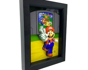 Super Mario 64 Art Nintendo 64 Games 3D Art Nintendo Art Super Mario Art Video Game Decor Video Game Art Game Room Decor Nes Art 8 Bit Art