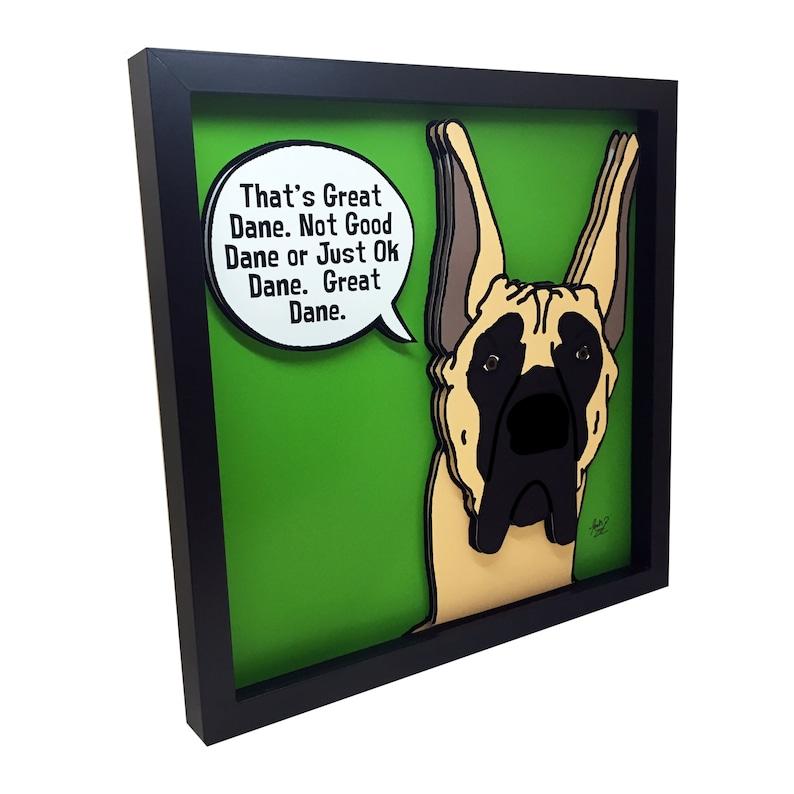 Great Dane Art Great Dane Gifts Dog Lover Gift 3D Art Funny image 0
