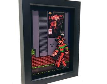 Freddy Krueger A Nightmare on Elm Street Video Game Nintendo Game Nes 3D Art Freddy Krueger Glove Artwork