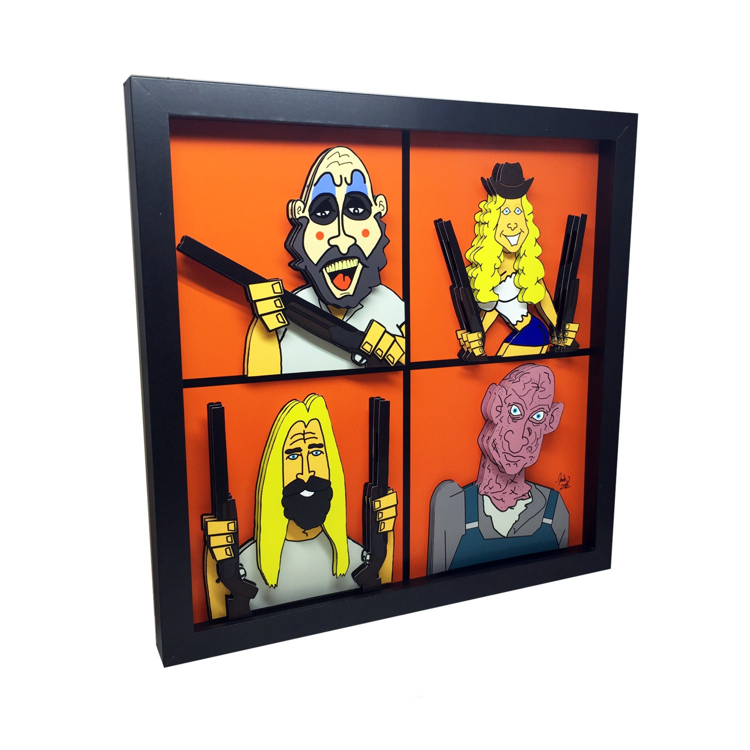 710ba2cdecc2 Captain Spaulding Art Rob Zombie Art The Devil's Rejects 3D Art House of  1000 Corpses Horror Decor Captain Spaulding Poster Horror Art Print