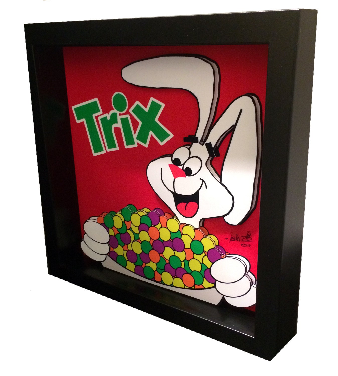 Kitchen Diorama Made Of Cereal Box: Trix Rabbit Cereal Box Art Funny Kitchen Art Breakfast Cereal