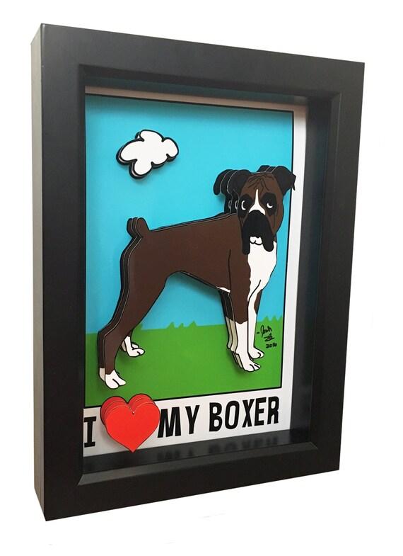 Boxer Hund Kunst Boxer Hund Geschenke Haustier Artwork 3D