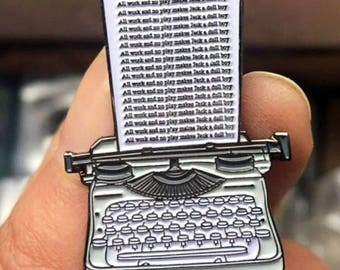 The Shining Pin The Shining Typewriter Horror Pin Horror Enamel Pin Stanley Kubrick Pin Stephen King Pin