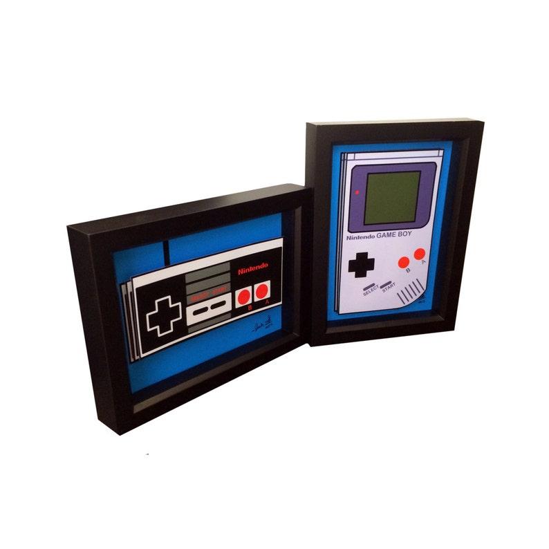Retro Video Game Art Nintendo Controller Print Nintendo Game Boy Print Game  Boy Art 3D Art Retro Video Game Collector Gift Video Game Decor