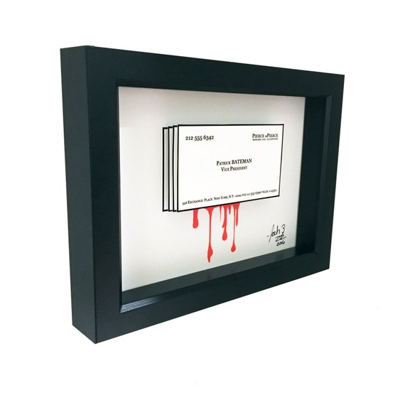 American psycho patrick bateman business card 3d art etsy image 0 reheart Images