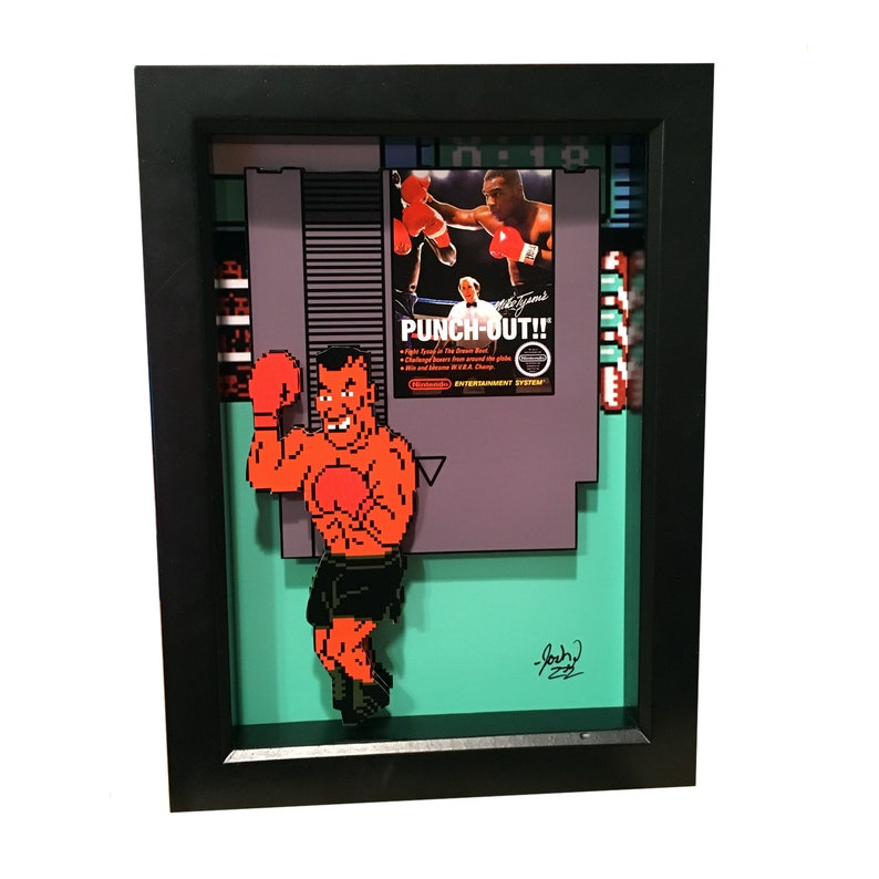 Mike Tyson Punch Out Game Video Game Decor Video Game Art image 0