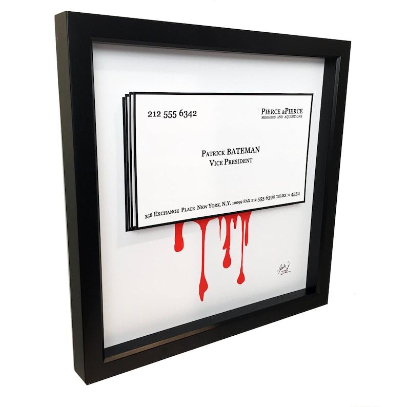 Amerikanischen Psycho Patrick Bateman Visitenkarte 3D Kunst