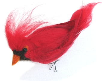 Needle Felted Red Cardinal