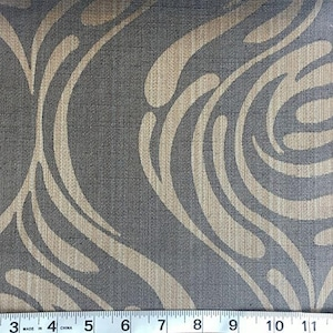 Custom Curtains Valance Roman Shade Shower Curtains in Avocado Mid Century Abstract Pattern Fabric