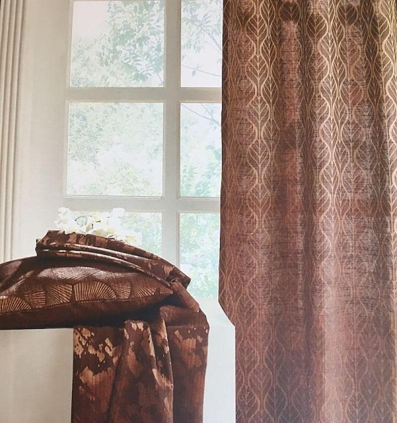 Custom Curtains Valance Roman Shade Shower Curtains in Charcoal Diamond Pattern Fabric