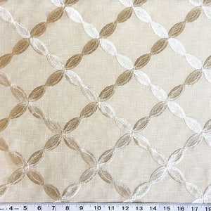 Custom Curtains Valance Roman Shade Shower Curtains in Champagne Abstract Pattern Fabric