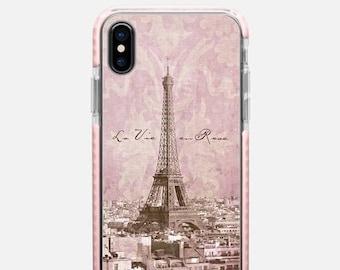 romantic Paris La Vie en Rose iPhone X case