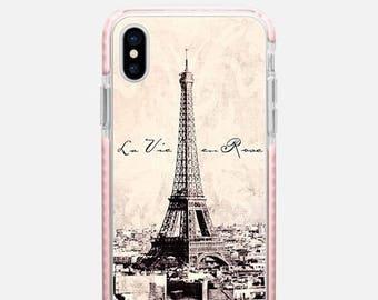 la Vie en Rose vintage iPhone X case