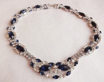 Sterling Rhinestone Event Necklace by Jay Flex