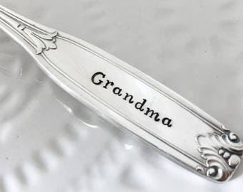 Your personalized spoon, hand stamped silverware