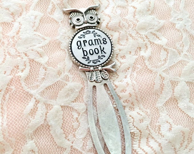 Personalized owl book mark- hand stamped