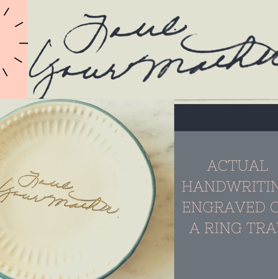 HANDWRITTEN hand painted jewelry dish  trinket dish  ring dish  ring tray  trinket tray  jewelry tray